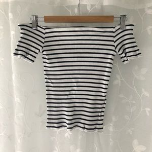 Brand New Off the Shoulder Ribbed Top